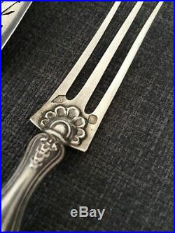 Bonnesoeur COFFRET SERVICE HORS D'OEUVRES ARGENT MASSIF 950 19eme Art Deco
