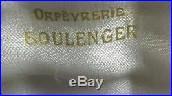 Boulenger 12 portes couteaux metal argente en coffret d'origine