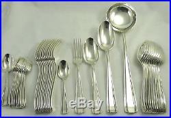 Boulenger, modèle Betty/Art Déco ménagère 38 pièces métal argenté excellent état