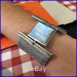 Bracelet Art Deco 1930 Argent Massif Et Opale