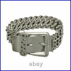 Bracelet Art Deco Moderniste en argent Massif 835, dans l'esprit de HERMES, 100g