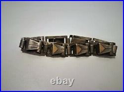 Bracelet moderniste Art déco Bijou ancien or et argent Style J. Despré