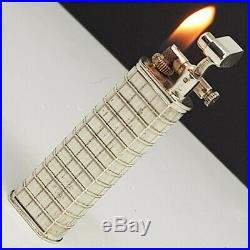 Briquet DUNHILL SYLPHIDE STERLING Argent massif-Art déco-Lighter-Feuerzeug