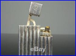 Briquet essence argent lighter petrol silver CARTIER Art déco 30's