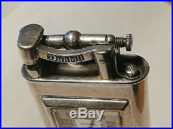 Briquet suisse essence DUNHILL table montre 8 jours plaqué argent 1930 Art Déco