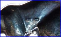 Broche en argent massif + onyx + cristal + marcassite style Art Deco Panthère