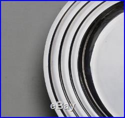 CHRISTOFLE LANEL ONDULATIONS LEGUMIER METAL ARGENTE ART DECO Silverplate Vegetab
