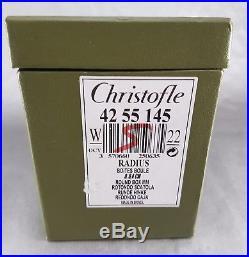 CHRISTOFLE RADIUS SZEKELY BOITE BOULE ART DÉCO MÉTAL ARGENTE D. 8,4 cm ROUND BOWL
