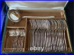 CHRISTOFLE ménagère 37 pièces modèle América, Art Déco, métal argenté, TBE
