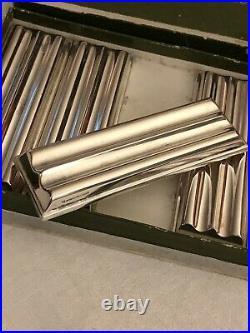 CHRISTOFLmétal argenté NEUF /Boite d'origine 6 Porte-couteaux