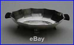 CORBEILLE A FRUITS / PAIN EN ARGENT MASSIF ART DECO Sterling Silver Fruit Bowl