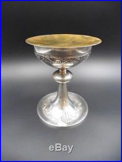 Calice Et Patene En Argent Et Vermeil Art Deco Ecrin 750 Grammes