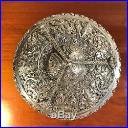 Cambodge, boite Couverte, argent Massif, xx°