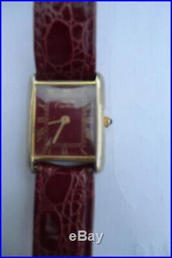 Cartier Must De Tank or et acier 53472