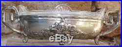 -Centerpiece Art Deco 1925 en Metal Argenté ORFEVRERIE DILECTA