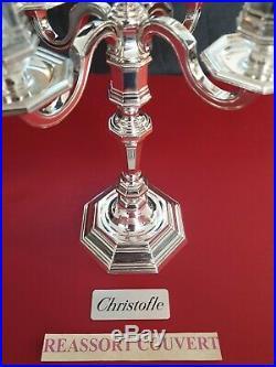 Chandelier Christofle France America Très Bel État Métal Argenté