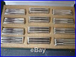 Christofle 12 porte couteaux métal argenté art déco