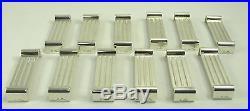 Christofle, 12 rares et beaux porte couteaux, Art Déco moderniste, métal argenté
