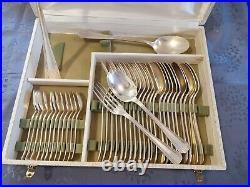 Christofle Boreal Menagere 38 Pieces Metal Argente Art Deco En Coffret