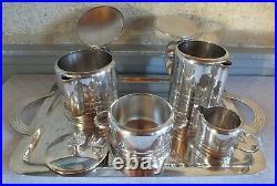 Christofle Luc Lanel art déco métal argenté thé café
