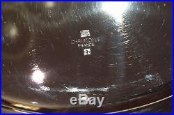Christofle Malmaison 4 assiettes de présentation métal argenté des 2 côtés