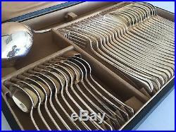 Christofle Ménagère 37 Pièces Argenterie Couvert Metal Argenté Art Deco Ancien