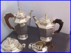 Christofle Service A The 4 Pieces Art Deco Metal Argente Modèle Colbert