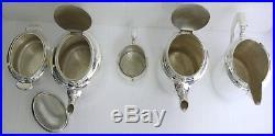 Christofle beau service thé/café 5 pièces métal argenté excellent état, Art Déco