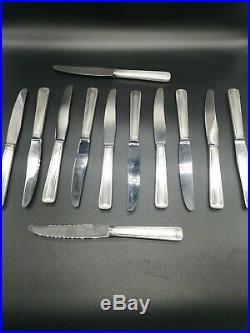 Coffret 24 Couteaux Métal Argente Style Art Deco