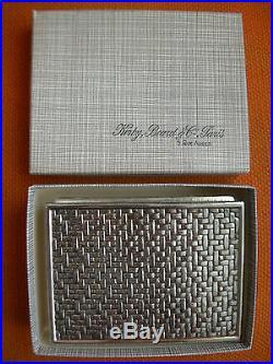 Coffret Boite A Cigarettes Ancienne Kirby Beard Metal Argente Art Deco 1948