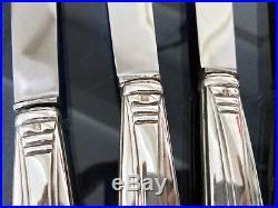 Coffret de couteaux Art Déco en métal argenté lame inox Service Couverts
