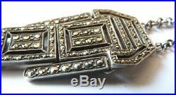 Collier PENDENTIF ART DECO argent massif necklace silver BIJOU ANCIEN VERS 1925
