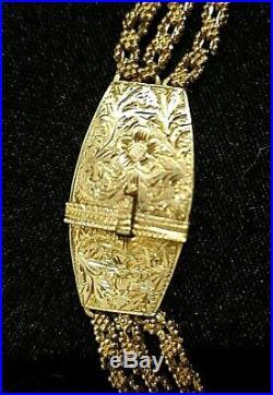 Collier multi rang ancien en argent époque art déco