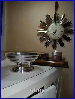 Compotier métal argenté art déco moderniste 1940 a identifier (Luc Lanel)