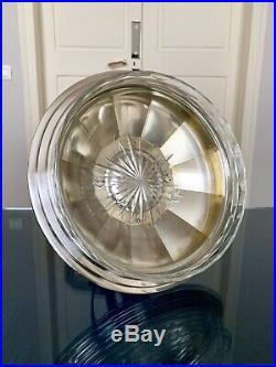 Coupe Art Déco en cristal et métal argenté Coupe à fruits Durousseau et Raynaud