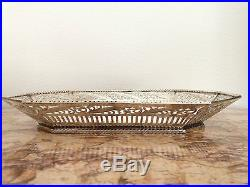 Coupe panière argent massif sterling silver travail étranger Art Déco 410 g