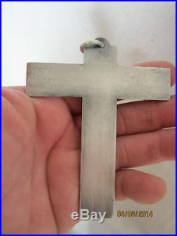 Crucifix Croix De Communion Par Jean Despres En Metal Argente Martele Non Marque
