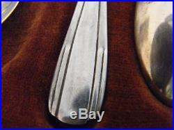 Cuillères à Moka Art Déco en Argent Massif Silver Silber Minerve