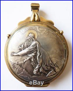 Custode hosti Argent massif signé Froment ANCIEN datée 1925 silver host box 50 g