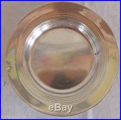 Dessous de bouteille carafe argent massif minerve art déco silver coaster