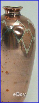 Dinanderie Christofle, 2 adorables petits vases, Art Déco, métal argenté