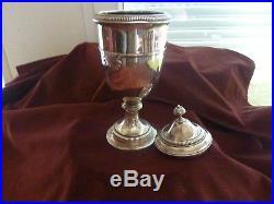 Drageoir coquille argent poincon mercure 280 g et 27 cm H