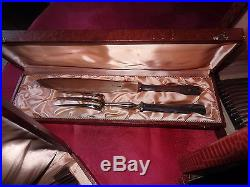 ERCUIS lot de couverts en métal argenté 124 pièces art déco bel état