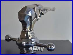 Elephant Art Deco de Jacques Cartier Mascotte sculpture bronze argenté 1930