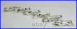Ercuis 12 porte-couteaux animaux métal argenté, rares, Art Déco, excellent état