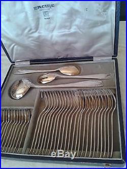 Ercuis Belle Menagere 63 Pieces Metal Argente Art Deco
