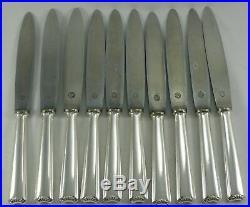 Ercuis modèle petite Coquille, Art Déco, 10 couteaux de table, métal argenté