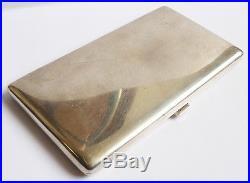 Étui à cigarettes ARGENT massif Art Deco Zimmerman 1938 silver cigaret box