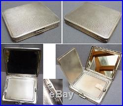 Étui poudrier en argent massif allemand vers 1920 Art Deco silver box