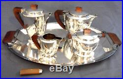 Exceptionnel service à thé complet CHRISTOFLE Gallia art-deco, era 1920 argent